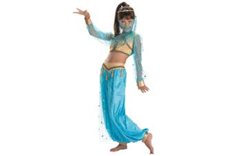 Mystical Genie Arabian Aladdin Princess Jasmine Harem Book Week Girls Costume