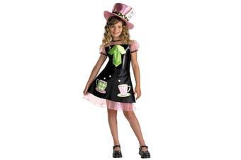 Mad Hatter Alice In Wonderland Tea Party Story Book Week Girls Costume
