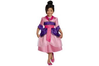 Mulan Hua Disney Princess Ancient Chinese Woman Warrior Hero Girls Costume S
