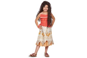 Moana Classic Disney Polynesian Princess Maui Dress Up Girls Costume