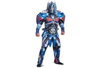 Optimus Prime Deluxe Transformers The Last Knight Superhero Mens Costume XL