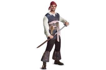 Potc5 Classic Captain Jack Sparrow Pirates of the Caribbean Mens Costume XL