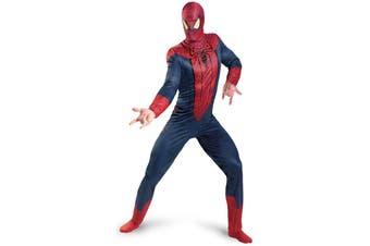 Spider-Man Spiderman Movie Classic Superhero Comic Con Licensed Men Costume XL