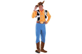 Woody Deluxe Sheriff Disney Toy Story Cowboy Western Mens Costume Plus 2XL