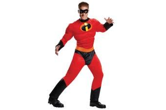Mr Incredible Muscle Disney Pixar The Incredibles 2 Superhero Mens Costume Plus