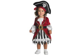 Pirate Princess of Carribbean Story Book Week Toddler Girls Costume 12-18 Months