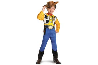 Woody Classic Sheriff Cowboy Disney Pixar Toy Story Toddler Boys Costume 3T-4T