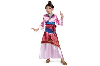 Mulan Deluxe Disney Princess Asian Story Book Week Toddler Girls Costume 3T-4T
