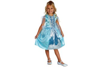 Princess Cinderella Ella Classic Sparkle Disney Toddler Girls Costume 3T - 4T