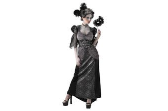 Masquerade Ball Countess Gothic Vampiress Day of Dead Women Costume L