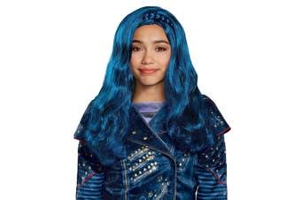 Evie Isle Look Disney Descendants TV Movie Book Week Blue Girls Costume Wig