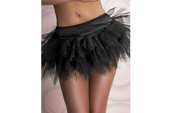 Devil Cop Halloween Fancy Dress Costume Black Tutu Petticoat