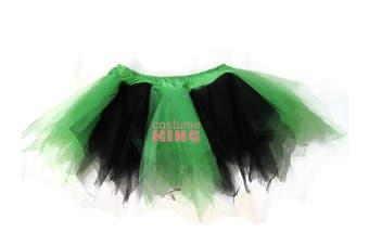 Black Green Witch Fairy Hen Night Skirts Tutu Petticoat 8 - 12