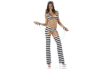 Naughty Convict Prisoner Jail Bird Women Costume 10 - 12