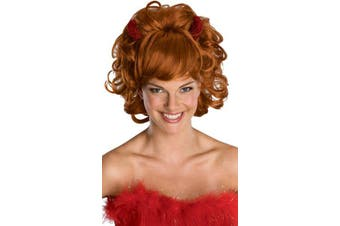 Sultry Devil with Horn Halloween Costume Women Wig