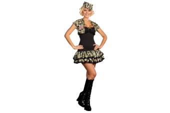 Soldier Girl Army Military Seal Team Top Gun FBI Uniform Women Costume