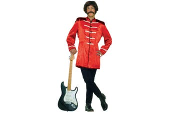 British Explosion Beatles 60s Red Jacket Men Costume STD