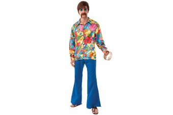 Groovy Go-Go 1960s 1970s Hippie Hippy Men Costume STD