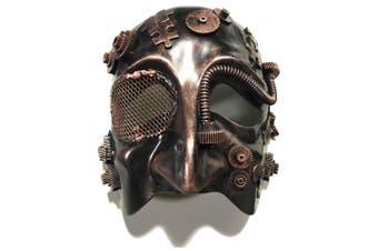 Steampunk Science Fiction Fantasy Victorian Bronze Male Men Costume Mask