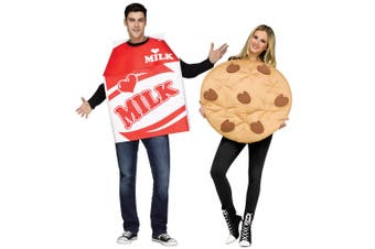Milk And Cookie Food Snack Breakfast Couples Womens Mens Costume OS