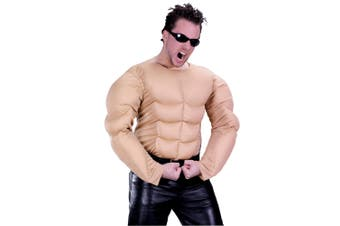 Bodybuilder Rambo Strong Man Mens Costume Nude Muscle Chest Shirt Plus