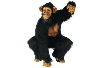 Chimpanzee Deluxe Chimp Ape Bonobo Wild Animal African Jungle Adult Mens Costume
