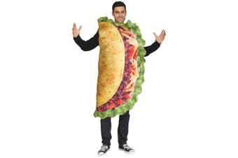 Taco Photo Real Taco Munchies Mexico Food Funny Dress Up Mens Costume OS
