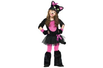 Fuzzy Miss Kitty Cat Kitten Animal Toddler Girls Costume