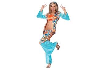 Hippic Chic Hippy 1960s 1970s Groovy Retro Bell Bottom Vest Women Costume