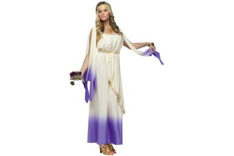 Lavender Goddess Greek Purple Roman Toga Women Costume