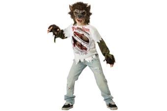Werewolf Wolfman Wolf Monster Horror Halloween Boys Costume