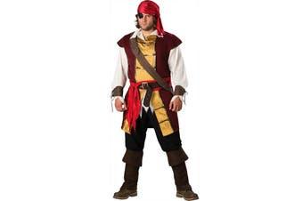 Swashbuckler Pirate Elite Deluxe Men Costume Plus