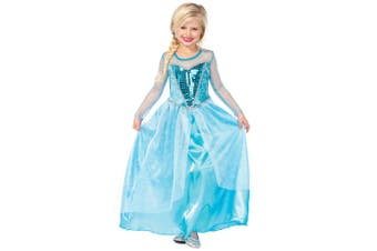 Fantasy Snow Queen Elsa of Arendelle Frozen Princess Girls Costume