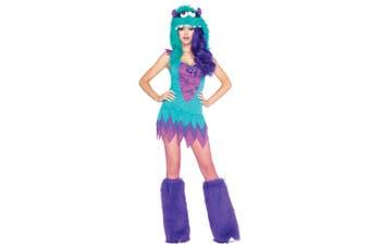 Fuzzy Frankie Monster Animal Cartoon Sexy Women Costume XS