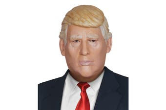 President Donald Trump US Politician Mens Costume Overhead Latex Mask