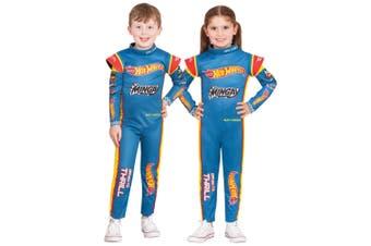 Hot Wheel Mattel Racer Matt Mingay Racing Suit Race Car Child Boys Costume 4-6