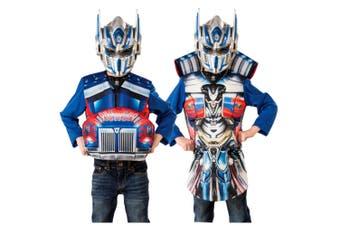 Optimus Prime Deluxe Transformers Flip In Reveal Superhero Boys Costume Top S