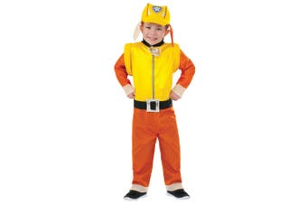 Rubble Deluxe Paw Patrol Rescue Dogs English Bulldog Book Week Boys Costume S