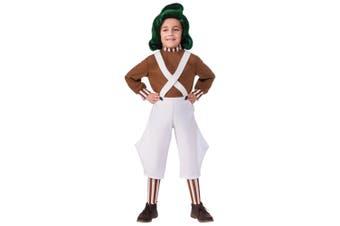 Oompa Loompa Willy Wonka Chocolate Factory Roald Dahl Book Week Boys Costume
