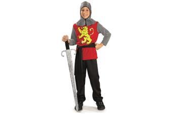 Medieval Lord Knight Renaissance Crusader Book Week Dress Up Boys Costume
