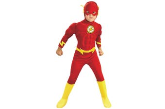 The Flash Deluxe Muscle Chest DC Comics Con Superhero Licensed Boys Costume