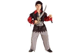 Pirate Sea Captain Cutthroat Jack Sparrow Treasure Hunter Book Week Boys Costume