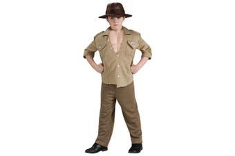 Indiana Jones Deluxe Muscle Archaeologist Adventures Book Week Boys Costume