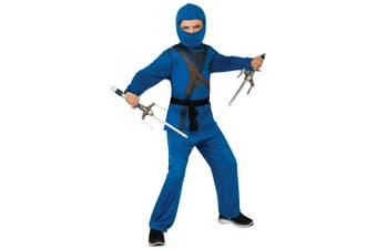 Blue Ninja Stealth Assassin Japanese Asian Warrior Book Week Boys Costume