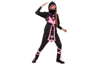 Pink Crystal Ninja Stealth Assassin Japanese Warrior Book Week Girls Costume