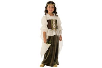 Woodland Girl Fairy Maid Marion Medieval Renaissane Book Week Girls Costume