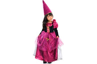 Magenta Mystic Witch Halloween Dress Girls Costume