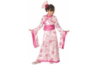 Asian Princess Mulan Pink Kimono Japanese Geisha Book Week Girls Costume