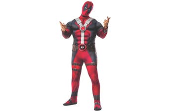 Deadpool Deluxe Muscle Chest Marvel Superhero Licensed Mens Costume Plus Size