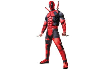 Deadpool Movie Deluxe Muscle Chest Marvel Comic Superhero Mens Costume